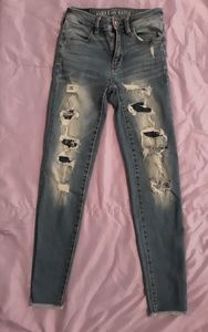American Eagle Super Stretch Distressed Jeans